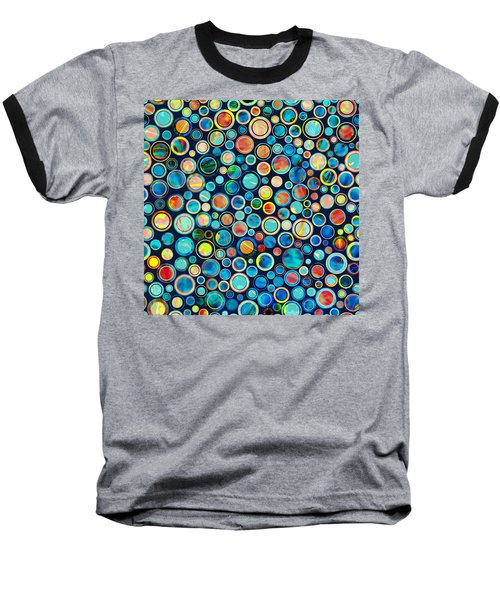 Dots On Painted Background Baseball T-Shirt