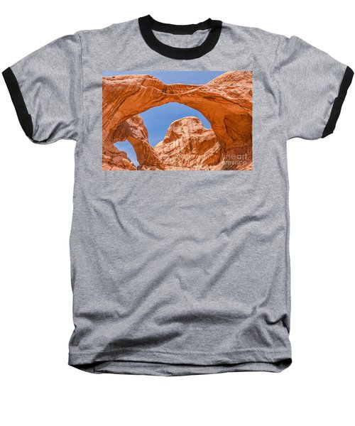 Baseball T-Shirt featuring the photograph Double Arch At Arches National Park by Sue Smith