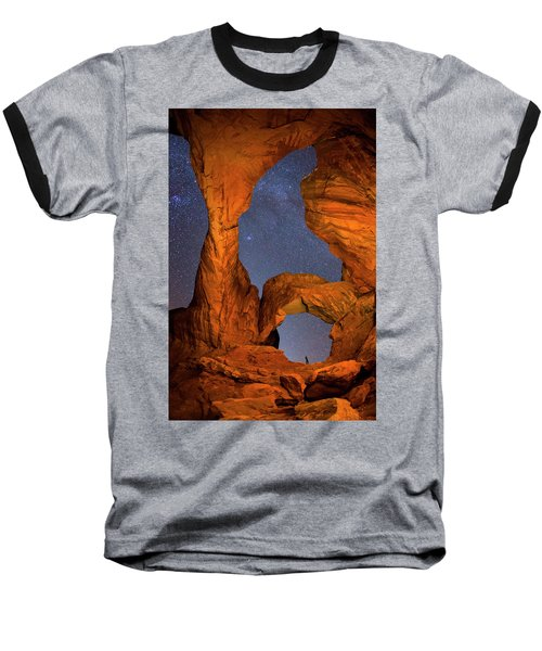 Double Arch At Night Baseball T-Shirt