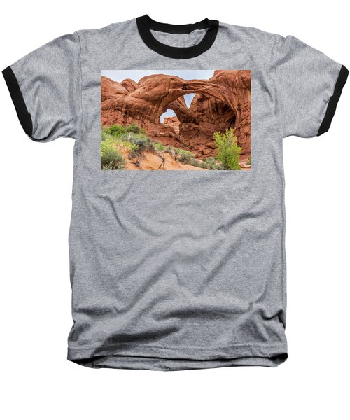 Double Arches, Arches National Park Baseball T-Shirt