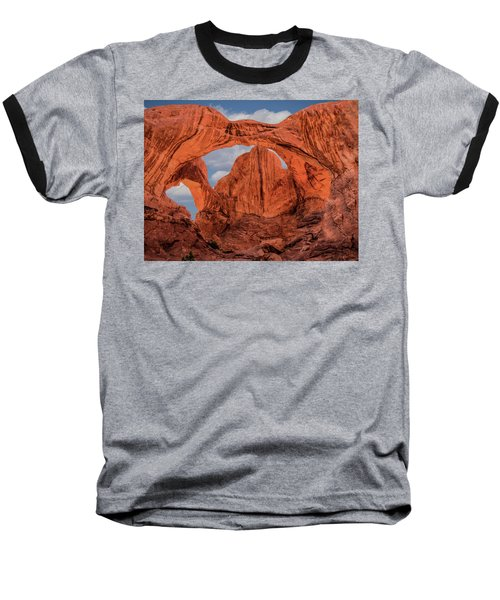 Double Arches At Arches National Park Baseball T-Shirt by Penny Lisowski
