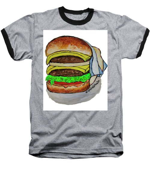 Double Cheeseburger Baseball T-Shirt