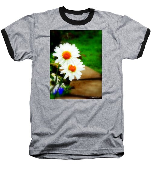Double Daisy Baseball T-Shirt
