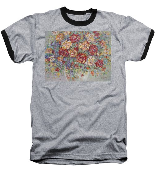 Baseball T-Shirt featuring the painting Double Delight. by Natalie Holland