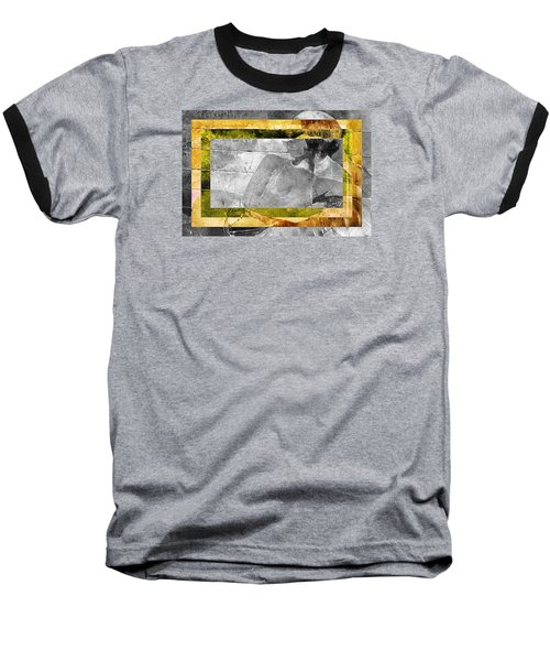 Double Framed Portrait Baseball T-Shirt by Andrea Barbieri