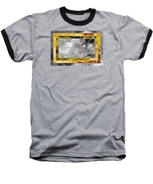 Double Framed Portrait Baseball T-Shirt