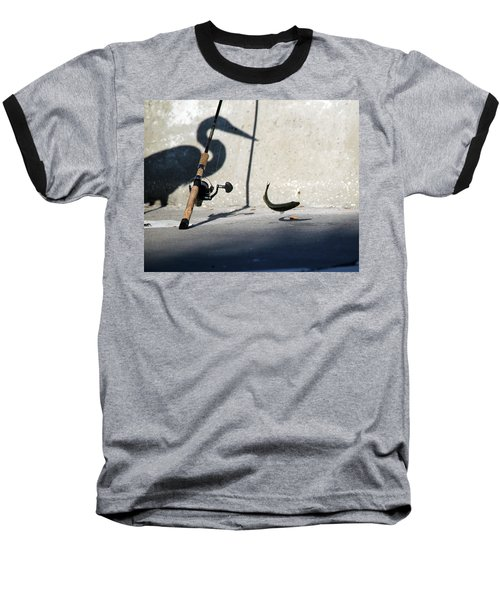 Double Jeapardy Baseball T-Shirt by Lamarre Labadie