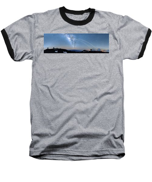 Double Lasers With The Milky Way Panorama Baseball T-Shirt
