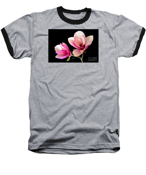 Double Magnolia Blooms Baseball T-Shirt by Jeannie Rhode