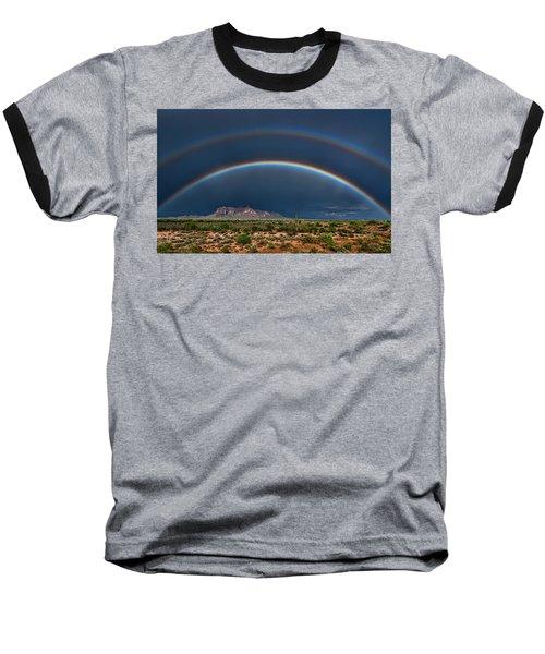 Baseball T-Shirt featuring the photograph Double Rainbow  by Saija Lehtonen
