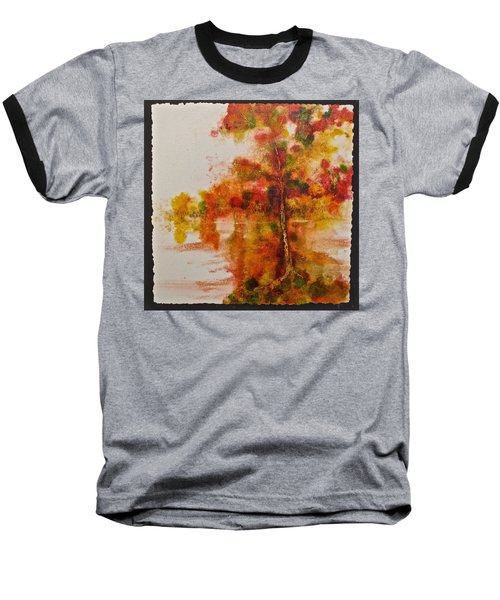 Baseball T-Shirt featuring the painting Double Reflection by Carolyn Rosenberger
