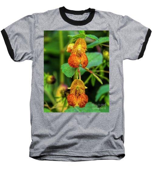Double Shot Of Jewelweed Baseball T-Shirt by Barbara Bowen