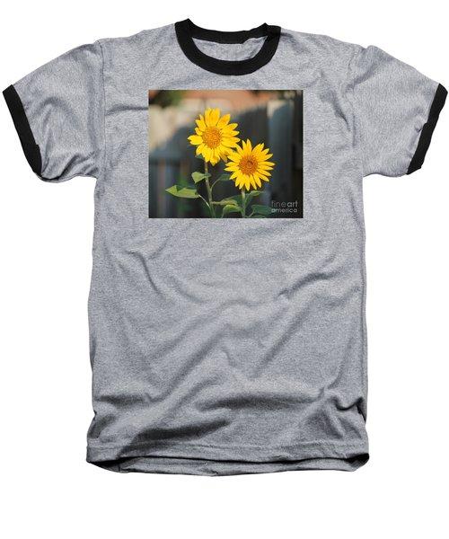 Double Sunflowers 2  Baseball T-Shirt
