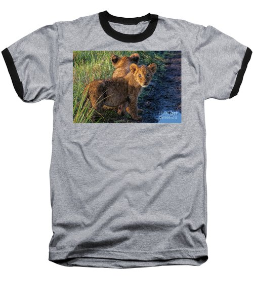 Baseball T-Shirt featuring the photograph Double Trouble by Karen Lewis