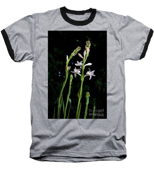 Double Tuberose In Bloom Baseball T-Shirt