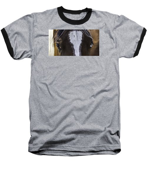 Double Vision Baseball T-Shirt by Elizabeth Eldridge