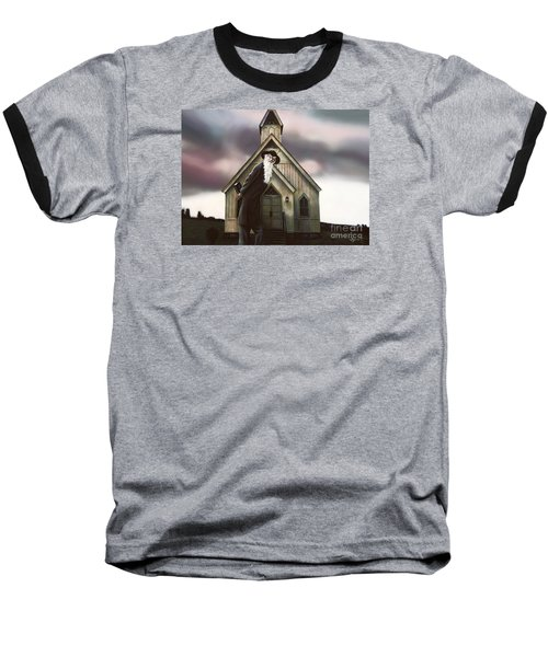 Baseball T-Shirt featuring the painting Doubt Or Faith by Dave Luebbert
