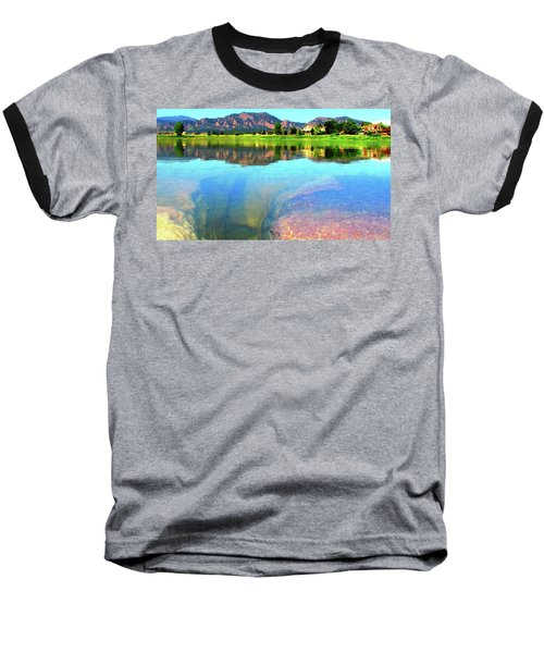 Doughnut Lake Baseball T-Shirt by Eric Dee