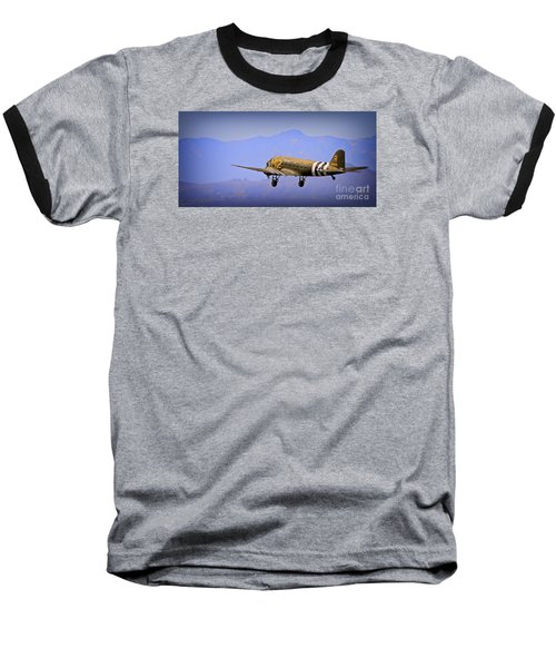 Douglas C-47 Invasion Blues Baseball T-Shirt