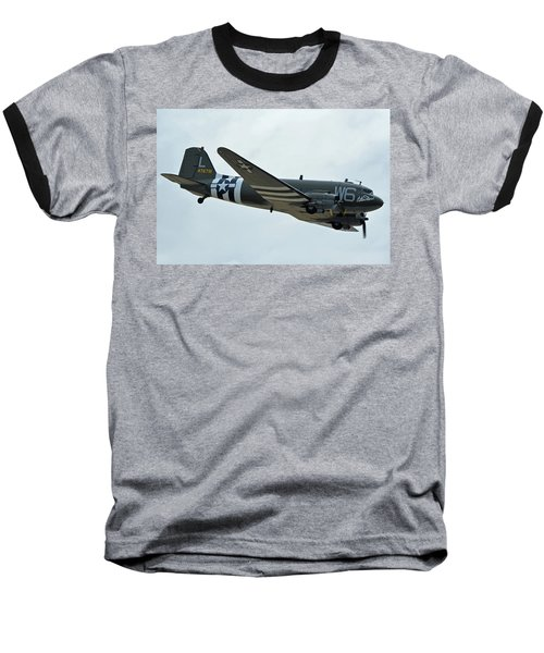 Baseball T-Shirt featuring the photograph Douglas C-47b Dakota N791hh Willa Dean Chino California April 30 2016 by Brian Lockett