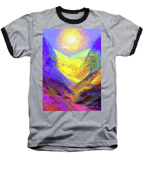 Baseball T-Shirt featuring the painting Dove Valley by Jane Small