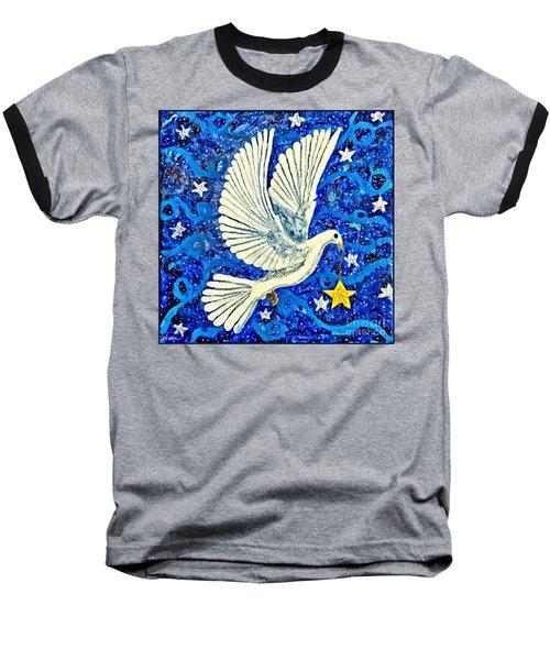 Dove With Star Baseball T-Shirt