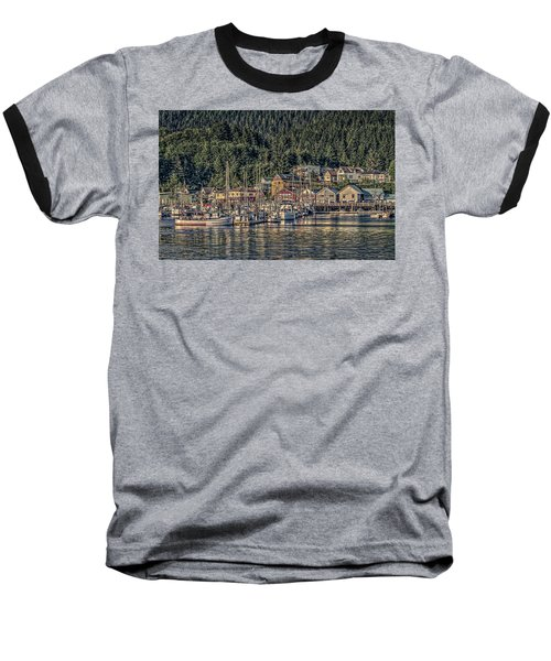 Down At The Basin Baseball T-Shirt by Timothy Latta