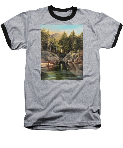 Down By The Pemigewasset River Baseball T-Shirt by Nancy Griswold