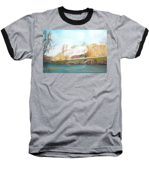 Down By The River Side Baseball T-Shirt by Carole Robins