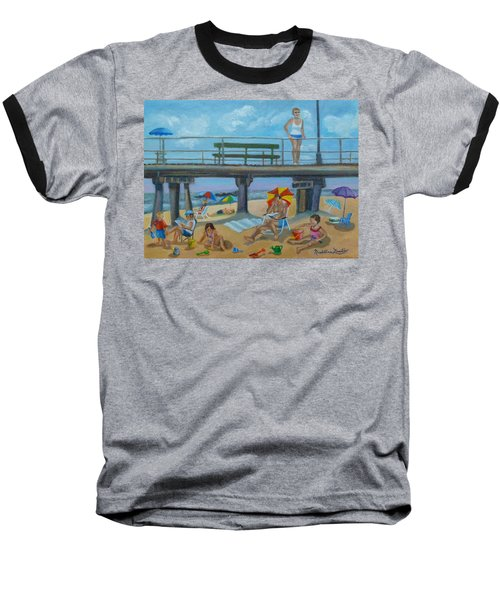 Down By The Seashore In Ocean Grove, N.j. Baseball T-Shirt