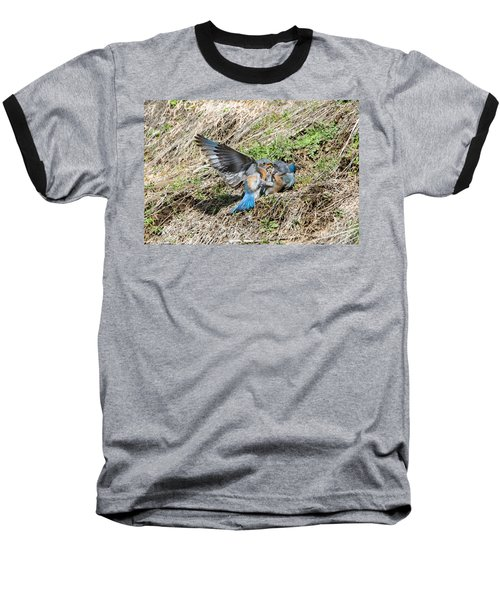 Baseball T-Shirt featuring the photograph Down For The Count by Mike Dawson