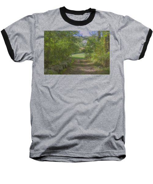 Down From The Mansion Baseball T-Shirt
