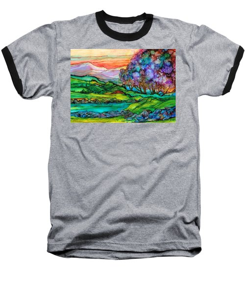 Baseball T-Shirt featuring the painting Down I N The Valley by Val Stokes