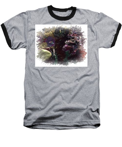 Baseball T-Shirt featuring the mixed media Down In The Valley by Angela L Walker