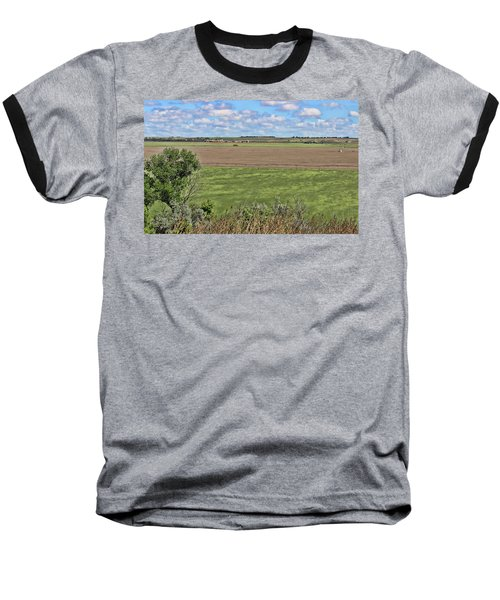 Down In The Valley Baseball T-Shirt by Sylvia Thornton