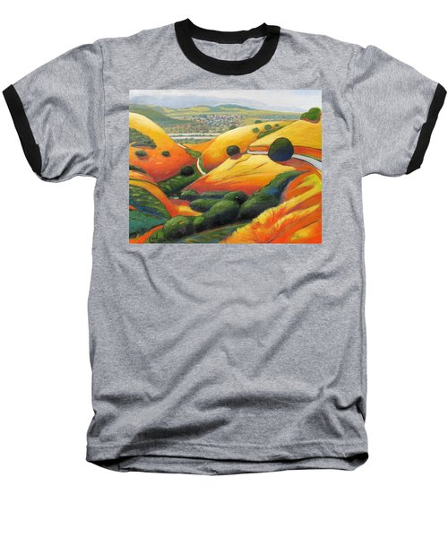 Baseball T-Shirt featuring the painting Down Metcalf Road by Gary Coleman