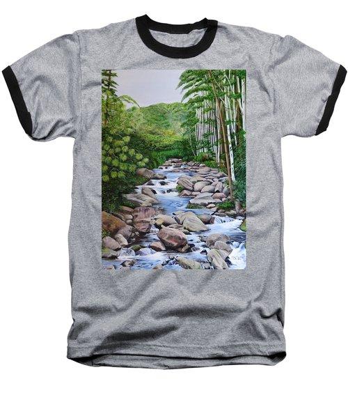 Down Stream  Baseball T-Shirt by Marilyn McNish