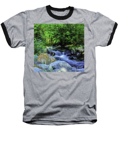 Baseball T-Shirt featuring the photograph Down Stream by Nancy Marie Ricketts