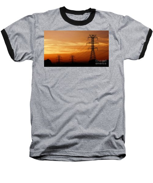 Down The Line Baseball T-Shirt by Christy Ricafrente