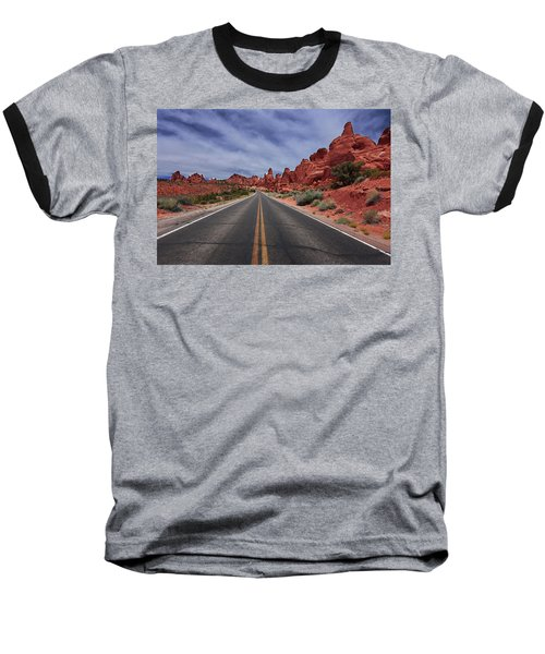 Down The Open Road Baseball T-Shirt