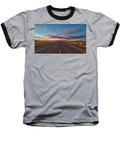 Baseball T-Shirt featuring the photograph Down The Road by Monte Stevens