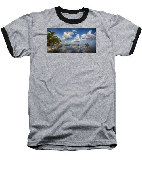Down The Shore Baseball T-Shirt by Don Durfee