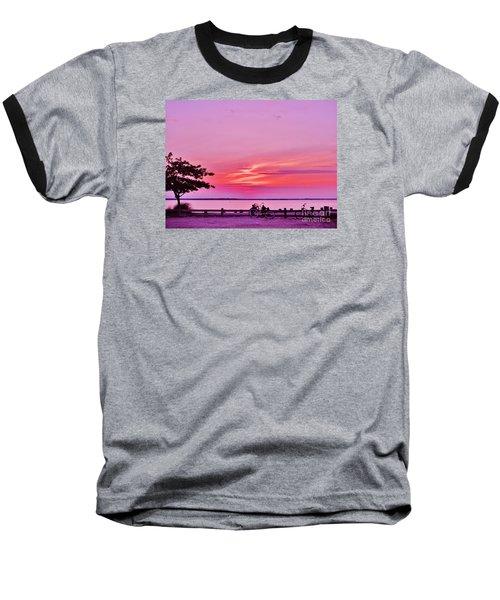 Summer Down The Shore Baseball T-Shirt by Susan Carella