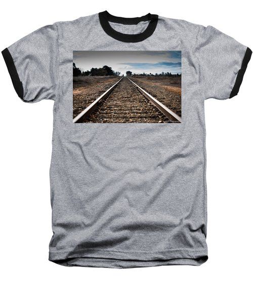 Down The Track Baseball T-Shirt