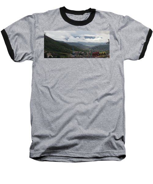 Down The Valley At Snowmass #3 Baseball T-Shirt by Jerry Battle