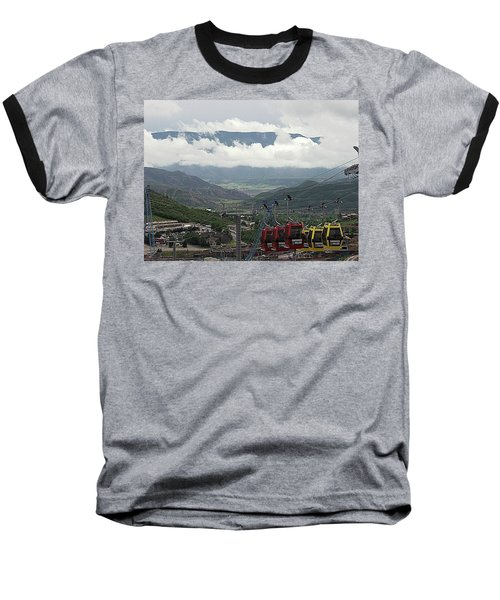 Down The Valley At Snowmass Baseball T-Shirt by Jerry Battle