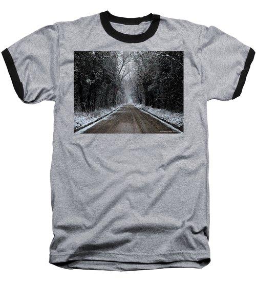 Down The Winter Road Baseball T-Shirt