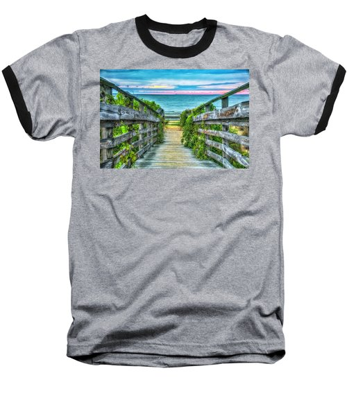 Down To The Beach Baseball T-Shirt