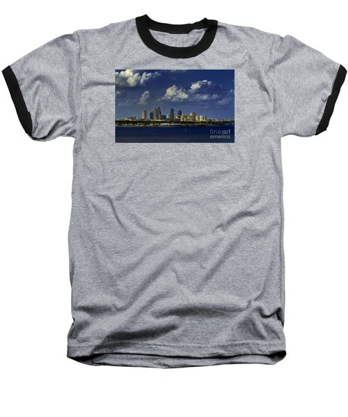 Baseball T-Shirt featuring the photograph Down Town Tampa by Ken Frischkorn