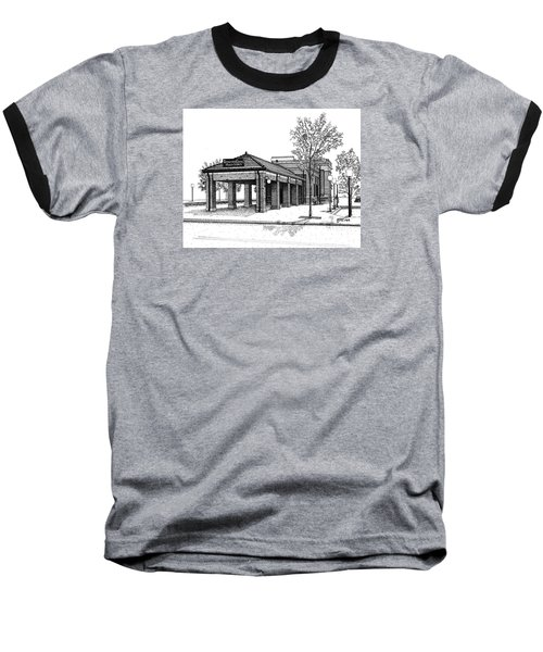 Downers Grove Main Street Train Station Baseball T-Shirt